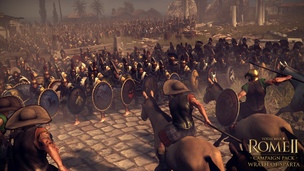 Charging into a line of phalanx troops