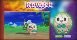 Rowlet - Grass/Flying Starter