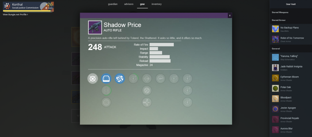 Shadow Price Upgrade