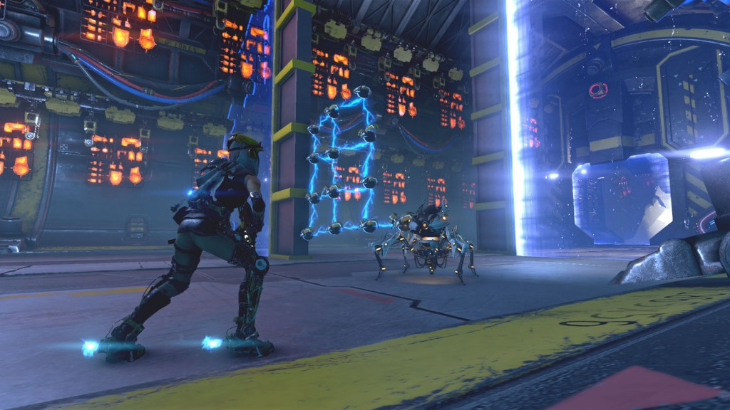 Choosing whether to focus on stealing cores to power up your Corebots, or parts to craft new armor for them makes combat fast and constantly exciting.